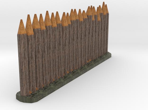 Wooden stake color testing in Full Color Sandstone