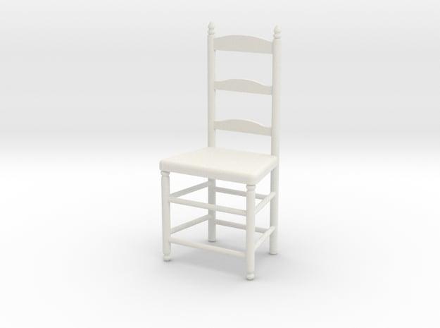 1:24 Lad Chair 9 in White Natural Versatile Plastic
