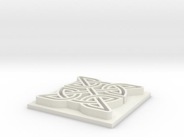 Celtic Knot in White Natural Versatile Plastic