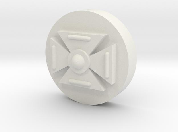 Symbol (10MM 3/8th Inch) in White Natural Versatile Plastic