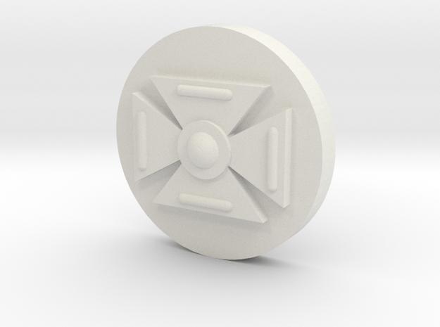 Symbol (15MM 5/8th Inch) in White Natural Versatile Plastic