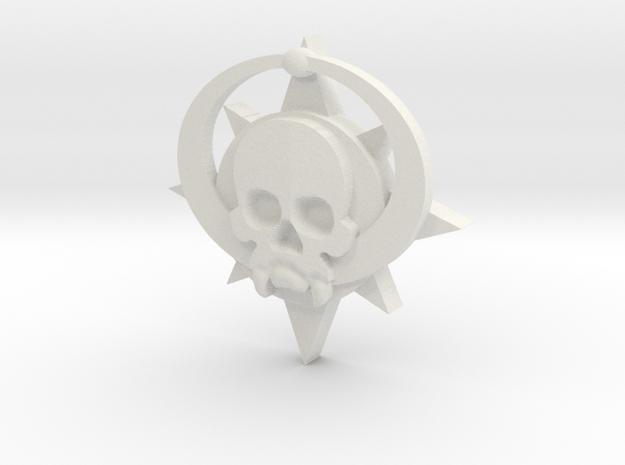 Skull symbol (small) in White Natural Versatile Plastic