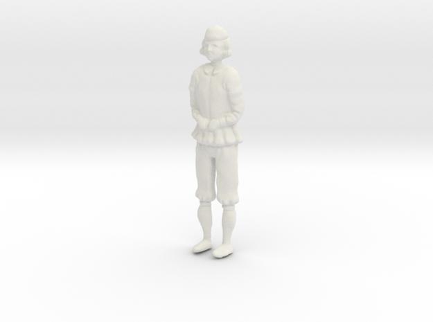 """Papegojan"" stern decoration statue in White Natural Versatile Plastic"