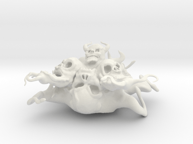 abomination in White Natural Versatile Plastic