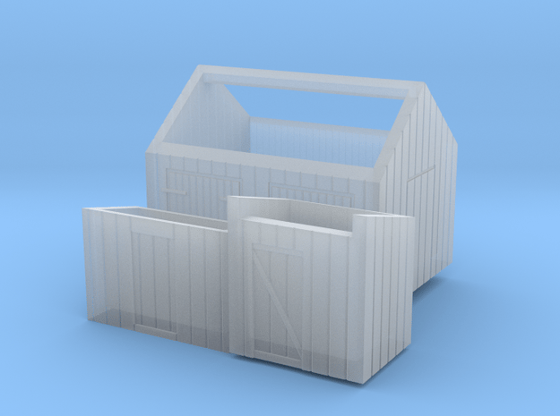 Z logging - Small Sheds (3pcs) in Smooth Fine Detail Plastic