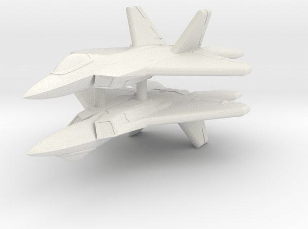 1/600 F-22A Raptor (WSF, x2) in White Natural Versatile Plastic