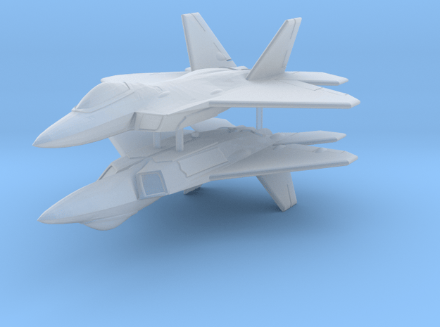 1/300 F-22A Raptor (x2) in Smooth Fine Detail Plastic