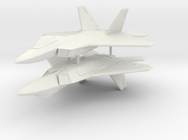 1/285 F-22A Raptor (x2) in White Natural Versatile Plastic