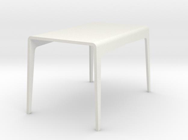 1:24 Bent table in White Natural Versatile Plastic