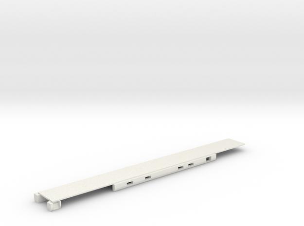 N Scale Rocky Mountaineer B Series Floor in White Natural Versatile Plastic