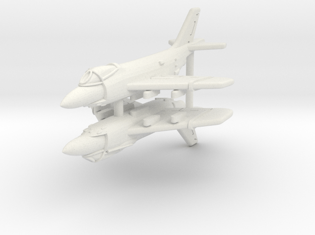1/600 F3H Demon (x2; WSF)* in White Natural Versatile Plastic