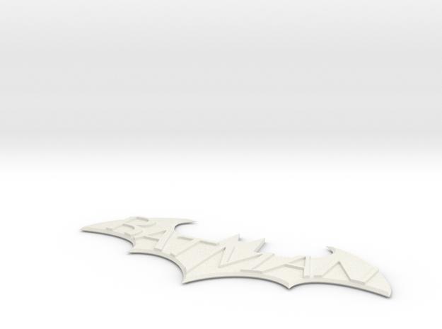 Batman Arkham City Logo in White Natural Versatile Plastic