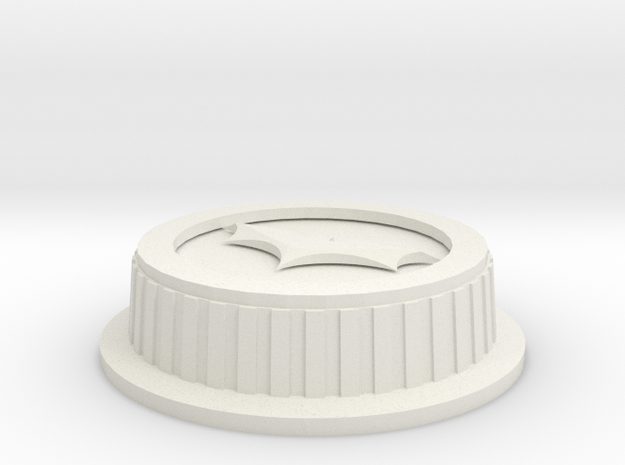 Batman Canon Lens Cover in White Natural Versatile Plastic