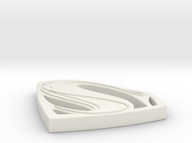 Man of Steel Pendant in White Natural Versatile Plastic
