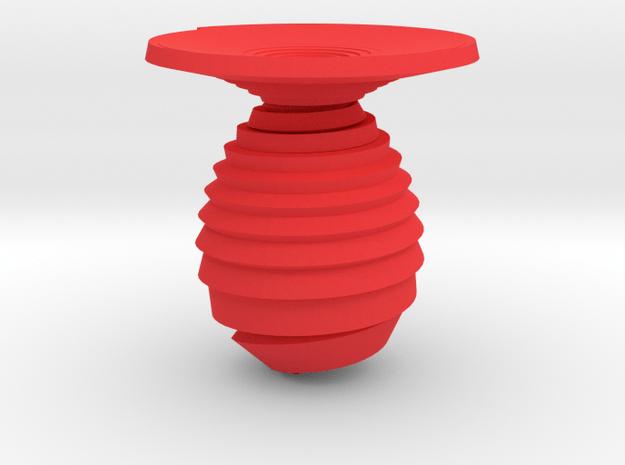 Vase spiral in Red Processed Versatile Plastic