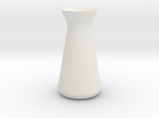 Designer Vase (Mini) in White Natural Versatile Plastic