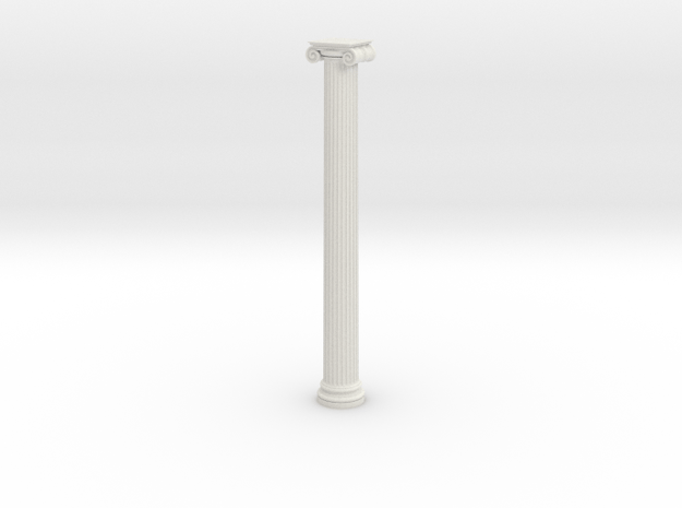Ionic Column 1 in White Natural Versatile Plastic