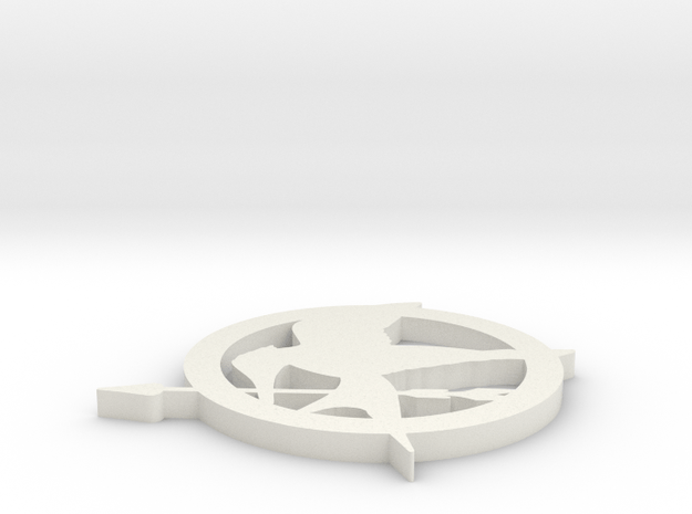 Mockingjay Pin in White Natural Versatile Plastic