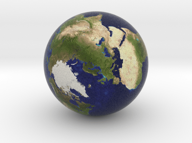 Earth Marble 0.5 inches in Diameter in Full Color Sandstone