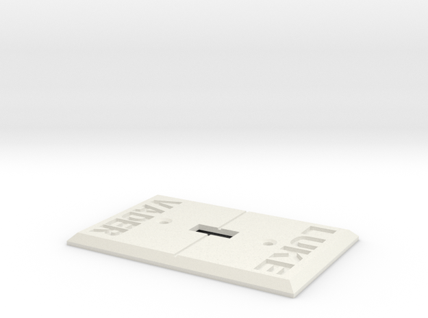 Vader Switch Plate in White Natural Versatile Plastic