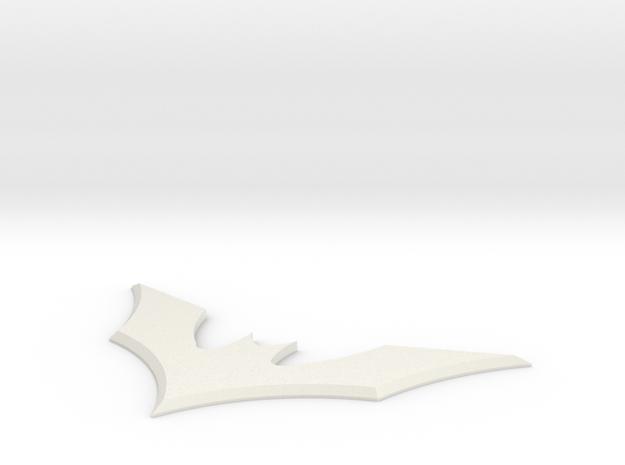 Batman Beyond Symbol in White Natural Versatile Plastic
