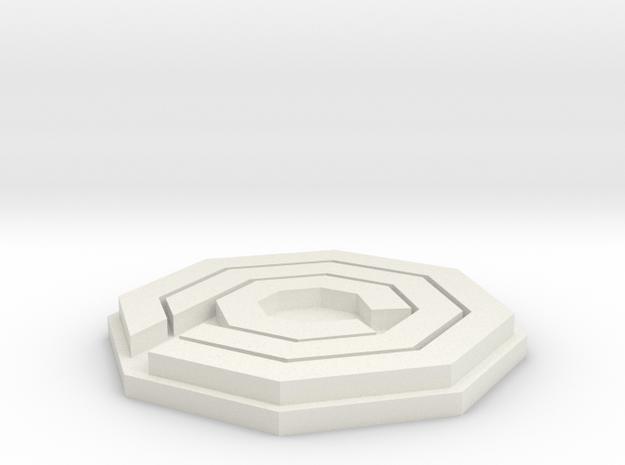 OCP Logo (Robo Cop) in White Natural Versatile Plastic
