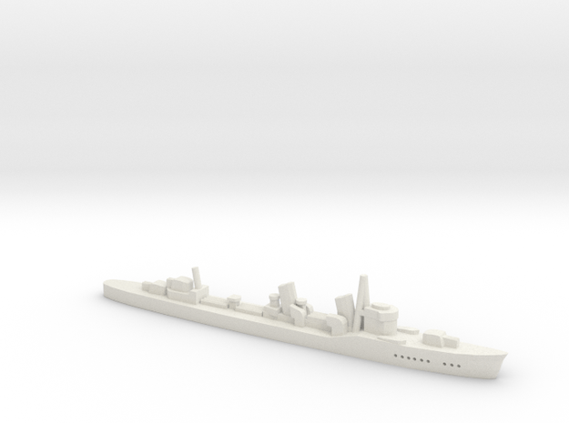 Fubuki (Fubuki class) 1:1800 in White Natural Versatile Plastic