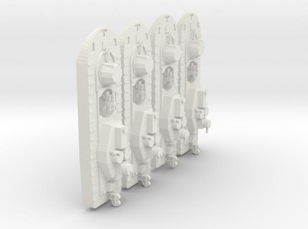 1/600 Vietnam Monitor x 4 off in White Natural Versatile Plastic