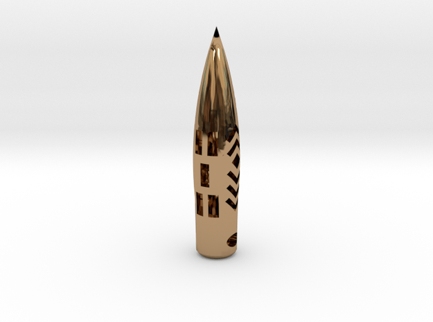 """50BMG """"Hogstooth"""" necklace  *CUSTOMIZED* with Name in Polished Brass"""