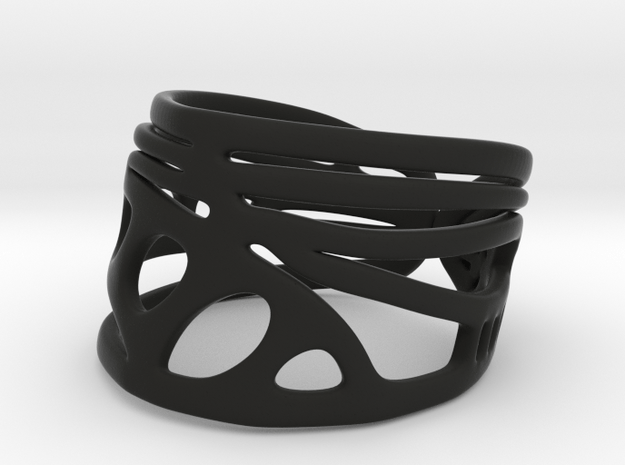 Dragonfly Wing Ring in Black Natural Versatile Plastic