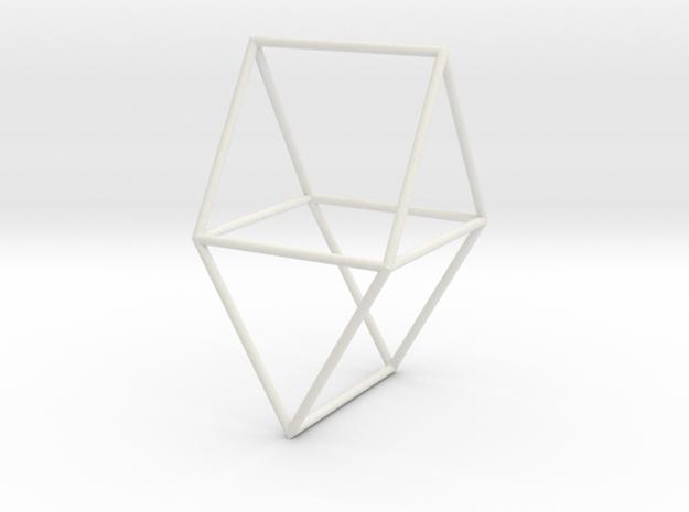 Gyrobifastigium 70mm in White Natural Versatile Plastic