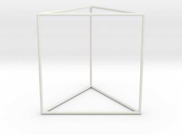 triangular prism 70mm in White Natural Versatile Plastic