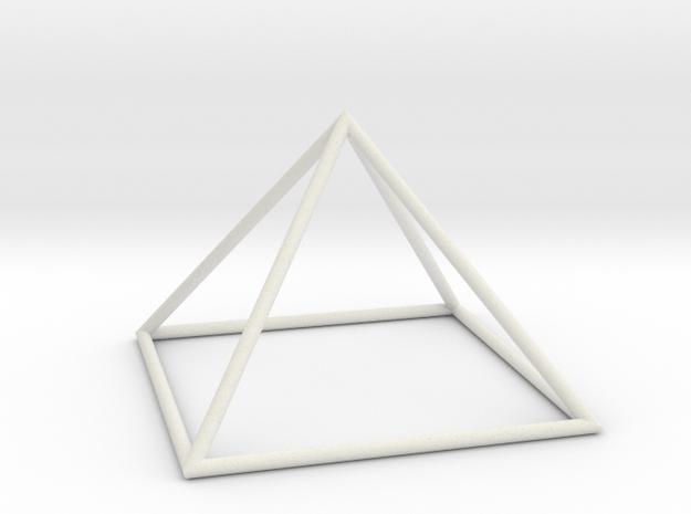 square pyramid 70mm in White Natural Versatile Plastic
