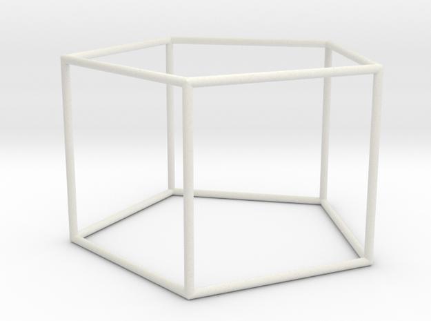 pentagonal prism 70mm in White Natural Versatile Plastic