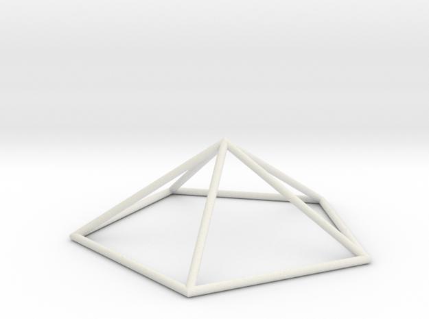 pentagonal pyramid 70mm in White Natural Versatile Plastic