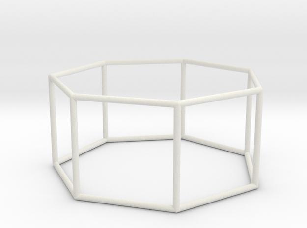 heptagonal prism 70mm in White Natural Versatile Plastic