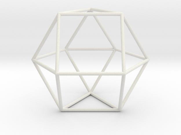 TriangularOrthobicupola 70mm in White Natural Versatile Plastic