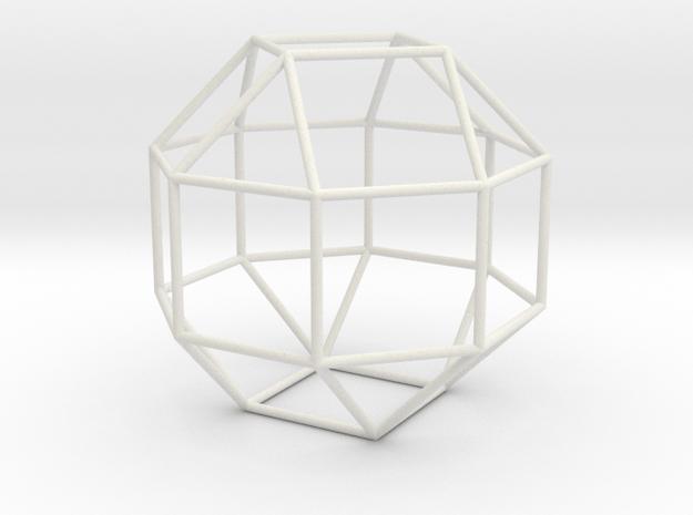 ElongatedSquareGyrobicupola 70mm in White Natural Versatile Plastic