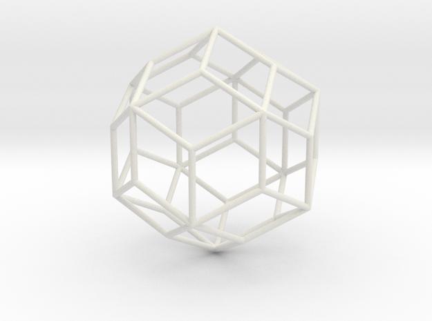 RhombicTriacontahedron 70mm in White Natural Versatile Plastic