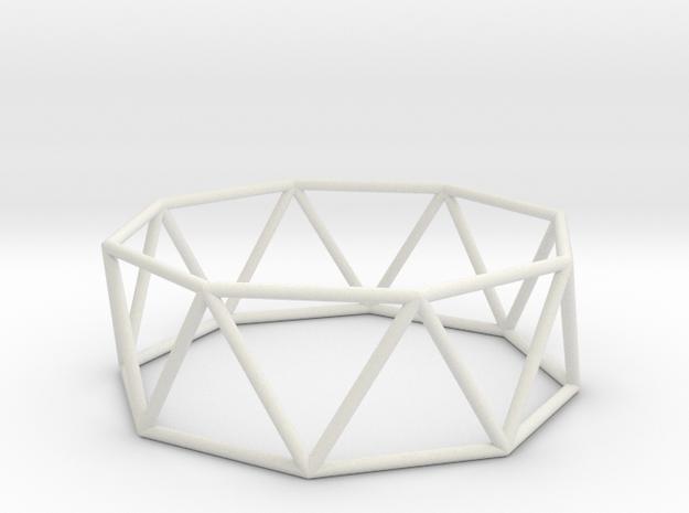 octagonal antiprism 70mm in White Natural Versatile Plastic