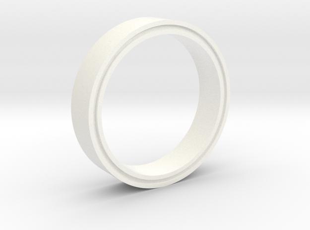 RingMold in White Processed Versatile Plastic
