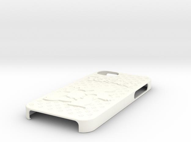 Pokemon Case for IPhone 5 (Squirtle Evo. Ver.) in White Processed Versatile Plastic