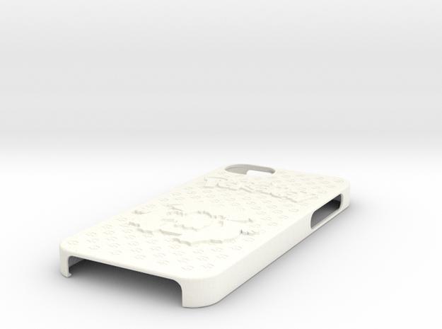 Pokemon Case for iPhone 5 (Bulbasaur Evo. Ver.) in White Processed Versatile Plastic