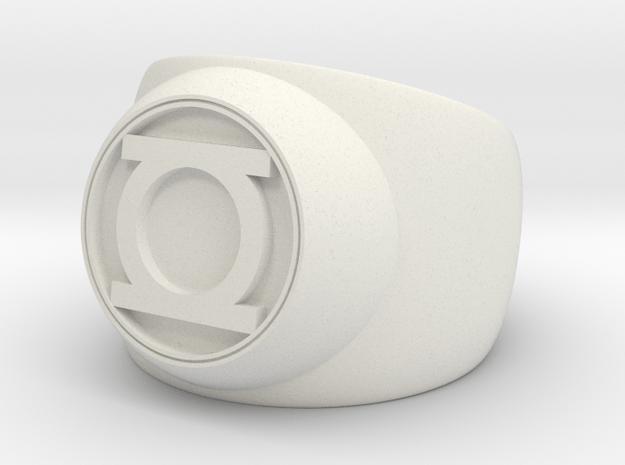 Green Lantern Ring- Size 9 in White Natural Versatile Plastic