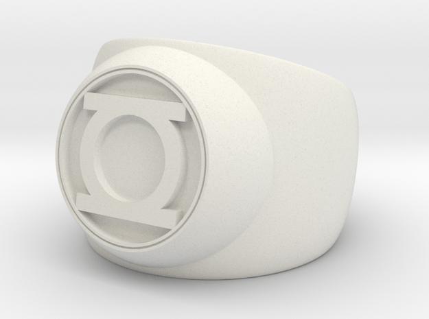 Green Lantern Ring- Size 13 in White Natural Versatile Plastic