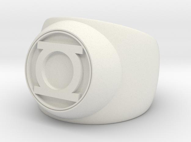Green Lantern Ring- Size 12 in White Natural Versatile Plastic