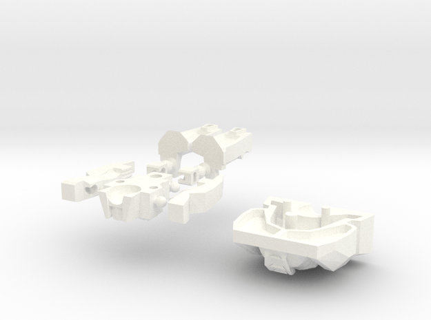 G2P-006a - Brainiac Head in White Processed Versatile Plastic