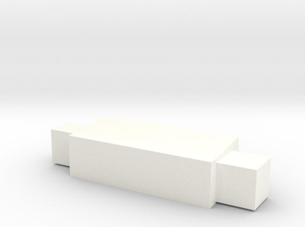 G2P-006b - Brainiac Weapon Pod in White Processed Versatile Plastic