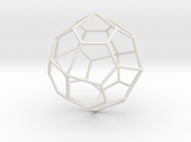 PentagonalIcositetrahedron 70mm in White Natural Versatile Plastic