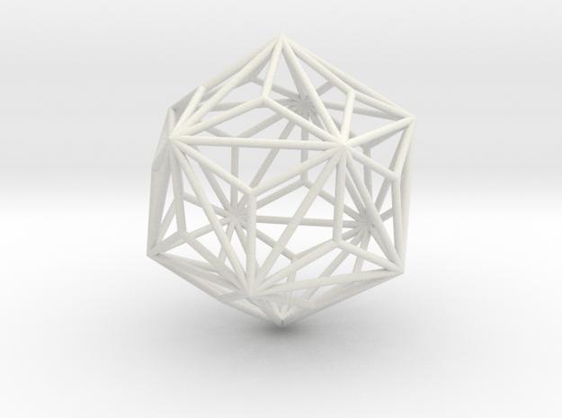 TriakisIcosahedron 70mm in White Natural Versatile Plastic